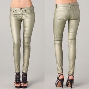 Rag and Bone legging jean in champagne 28